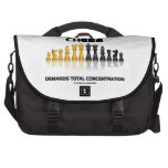Chess Demands Total Concentration (Chess Set) Bags For Laptop