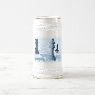 Chess Design  Beer Stein 18 Oz Beer Stein