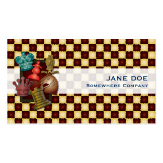 Chess Design King Queen Knight Bishop Pawn Business Card