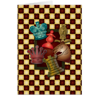 Chess Design King Queen Knight Bishop Pawn Card