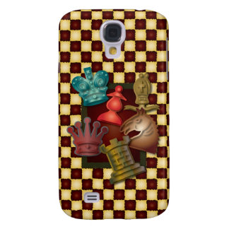 Chess Design King Queen Knight Bishop Pawn Galaxy S4 Cover