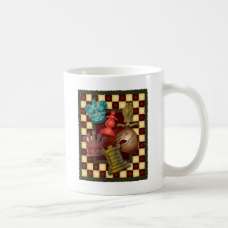 Chess Design King Queen Knight Bishop Pawn Coffee Mug