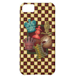Chess Design King Queen Knight Bishop Pawn Cover For iPhone 5C
