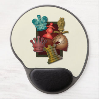 Chess Design King Queen Knight Bishop Pawn Gel Mouse Pad