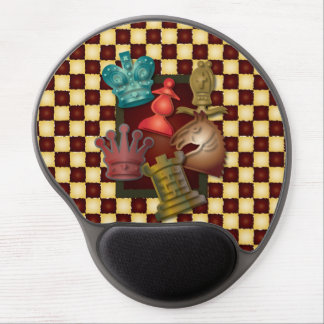 Chess Design King Queen Knight Bishop Pawn Gel Mouse Mats