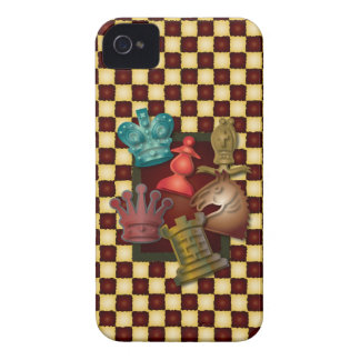 Chess Design King Queen Knight Bishop Pawn iPhone 4 Case-Mate Case
