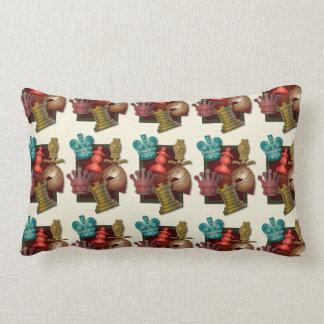 Chess Design King Queen Knight Bishop Pawn Lumbar Pillow