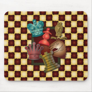 Chess Design King Queen Knight Bishop Pawn Mouse Pad