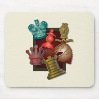Chess Design King Queen Knight Bishop Pawn Mouse Pads
