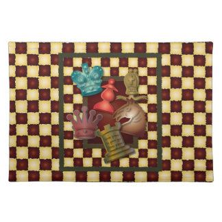 Chess Design King Queen Knight Bishop Pawn Placemat