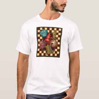 Chess Design King Queen Knight Bishop Pawn T-Shirt