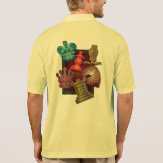 Chess Design King Queen Knight Bishop Pawn Polo Shirt
