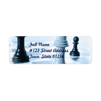 Chess Design Mailing Label Return Address Label