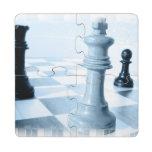 Chess Design Puzzle Coaster