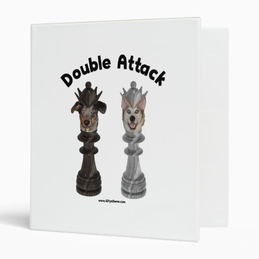 Chess Double Attack Dogs Binder