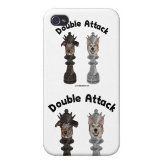 Chess Double Attack Dogs iPhone 4/4S Case