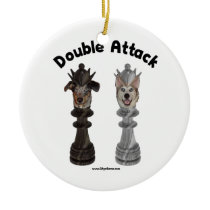 Chess Double Attack Dogs Ornaments
