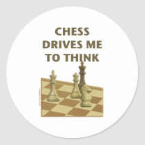 Chess Drives Me Stickers