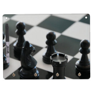 Chess Dry Erase Board With Keychain Holder