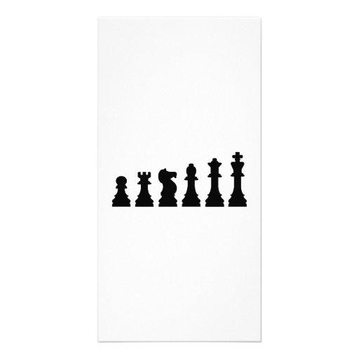 Chess evolution photo card