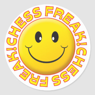 Chess Freak Smile Classic Round Sticker