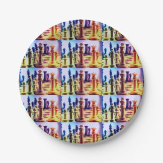 Chess Game 7 Inch Paper Plate