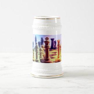 Chess Game Beer Mug