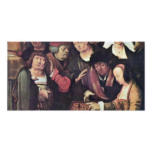 Chess Game By Leyden Lucas Van (Best Quality) Picture Card