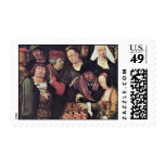 Chess Game By Leyden Lucas Van (Best Quality) Postage Stamp