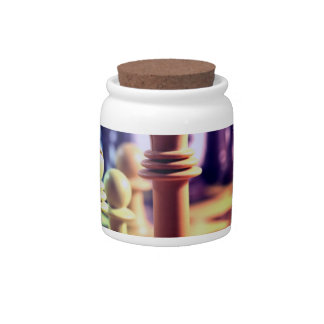 Chess Game Candy Jar