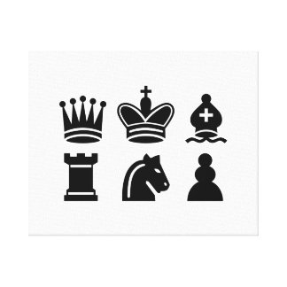 Chess game gallery wrapped canvas