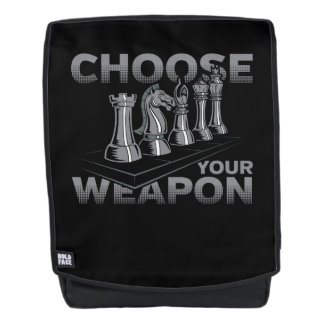 Chess Game Choose Your Weapon Backpack