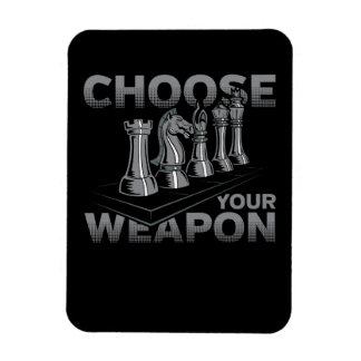 Chess Game Choose Your Weapon Magnet