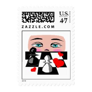 Chess Game Correspondence Postal Stamp STAMPS