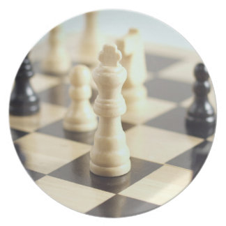 Chess Game Dinner Plate