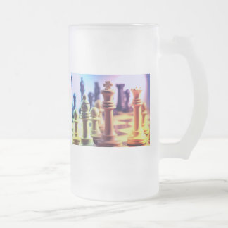 Chess Game Frosted Mug