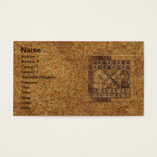 CHESS GAME IN STONE BUSINESS CARD
