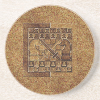 CHESS GAME IN STONE COASTER