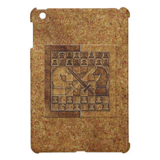 CHESS GAME IN STONE COVER FOR THE iPad MINI