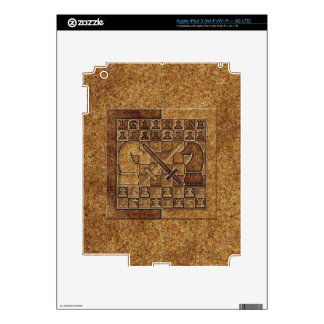 CHESS GAME IN STONE iPad 3 SKIN
