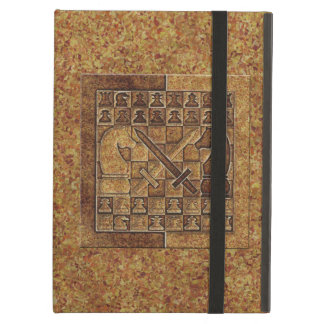 CHESS GAME IN STONE iPad COVER