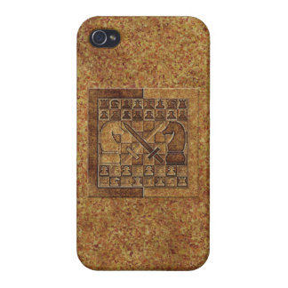CHESS GAME IN STONE iPhone 4/4S COVER