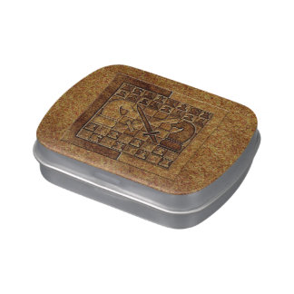 CHESS GAME IN STONE JELLY BELLY TIN