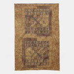 CHESS GAME IN STONE KITCHEN TOWELS