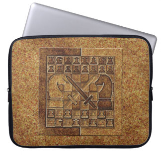 CHESS GAME IN STONE COMPUTER SLEEVE