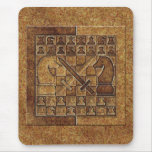CHESS GAME IN STONE MOUSEPADS