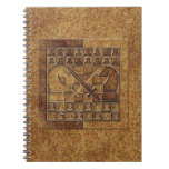 CHESS GAME IN STONE NOTEBOOK