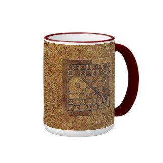 CHESS GAME IN STONE RINGER COFFEE MUG