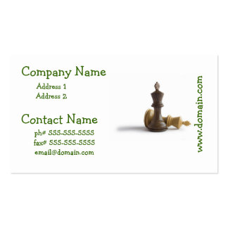 Chess Game Over Business Cards