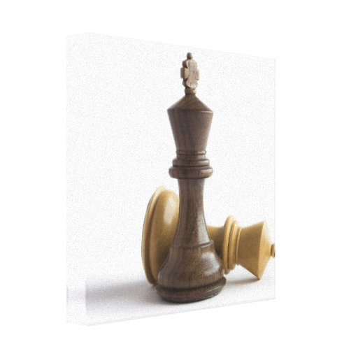 Chess Game Over Canvas Print